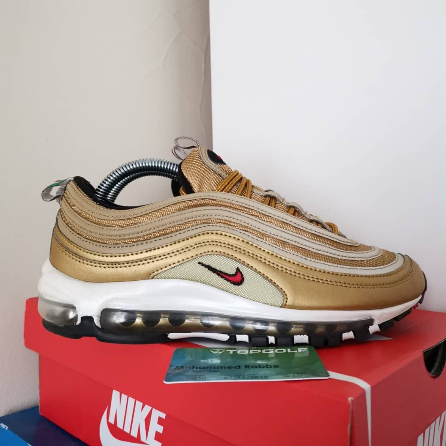 buy online cd817 fc292 Nike Air Max 97 Gold Italy
