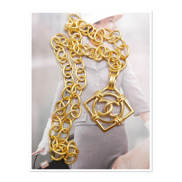 Authentic Chanel Gold Plated Cc Charm Necklace