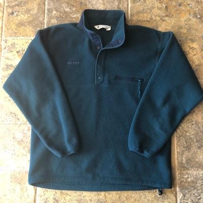Vintage Columbia Quarter Button Fleece Jacket