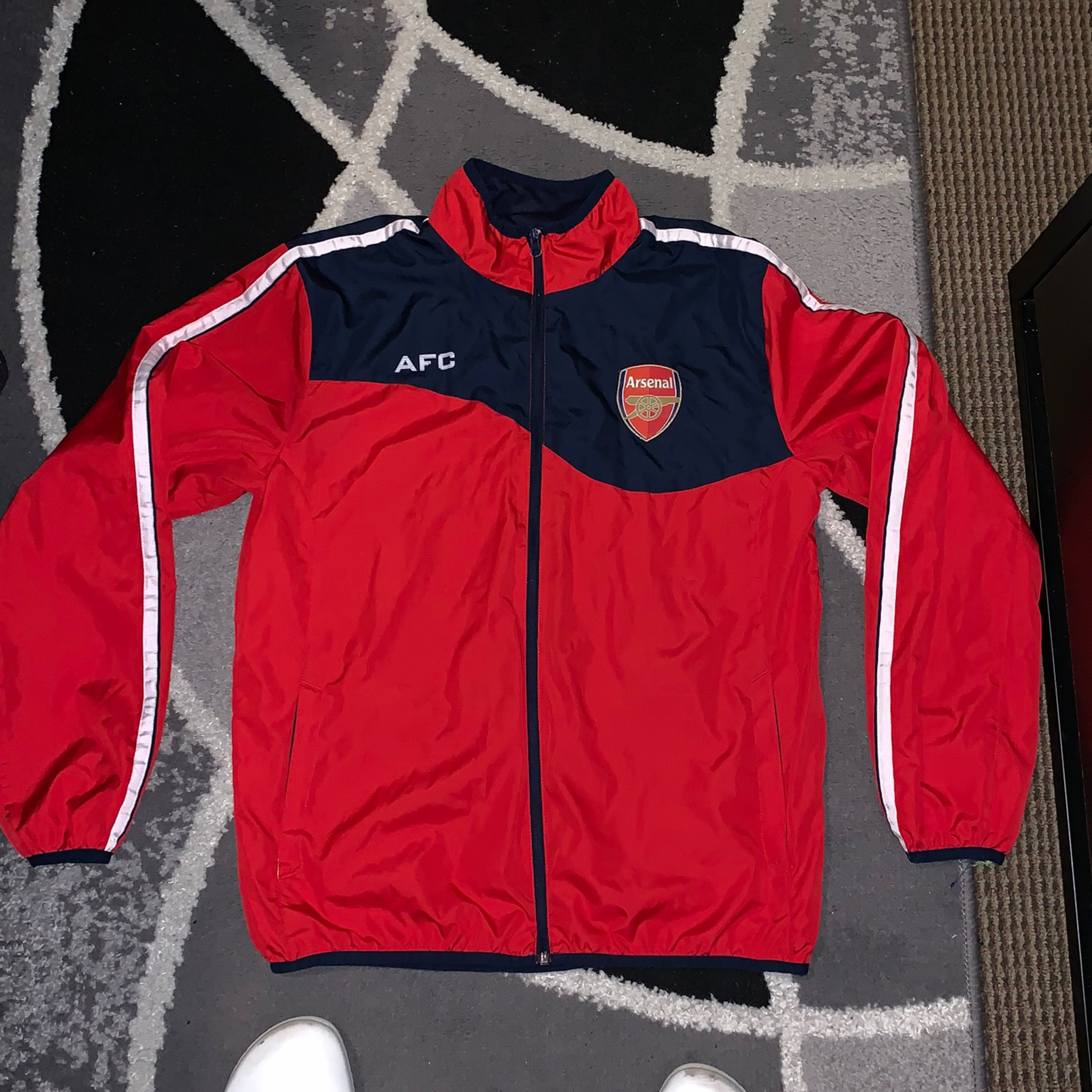 brand new ca125 4d037 Arsenal Soccer Jacket
