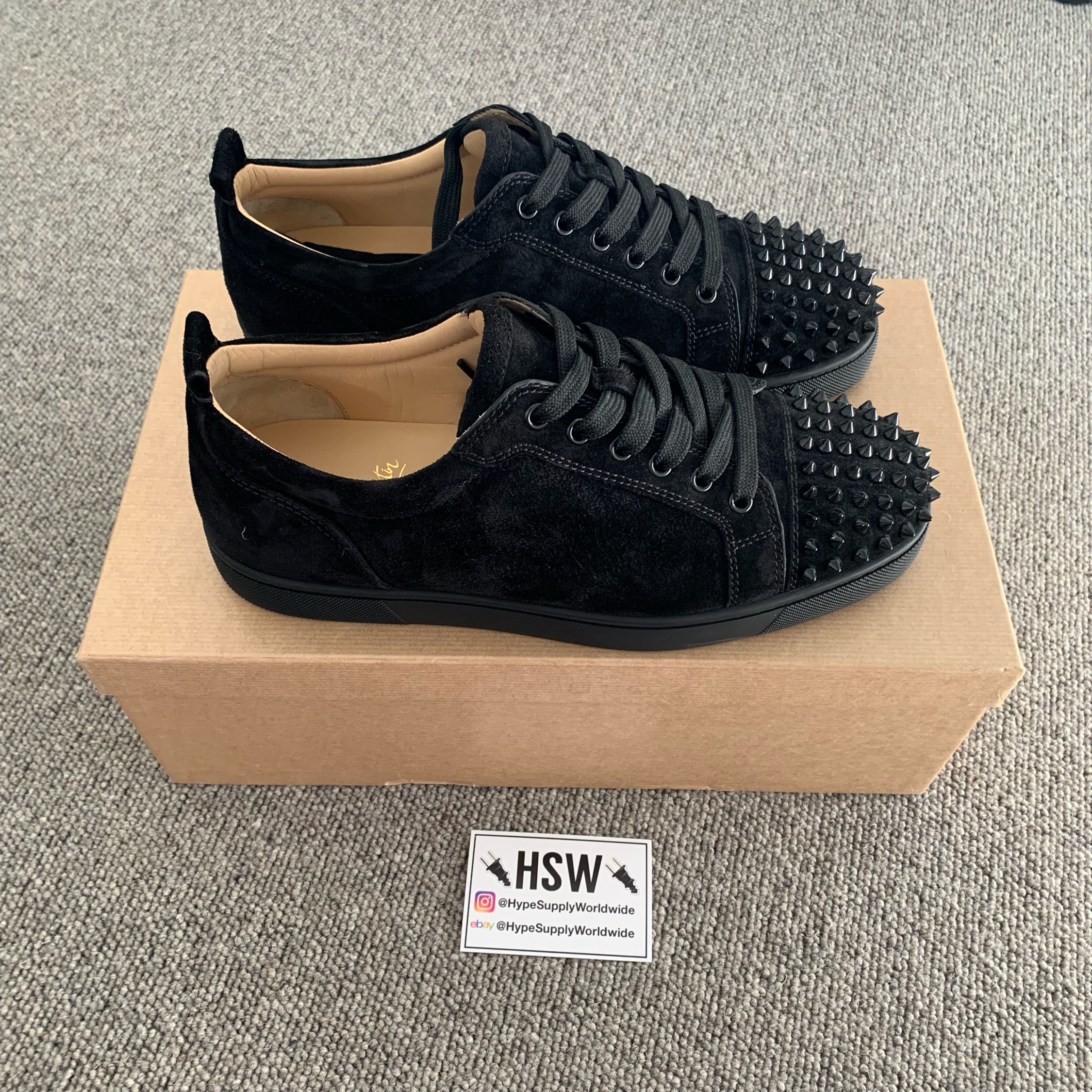 online store 67d9e 72463 Christian Louboutin Louis Junior Spike Black Eu 42