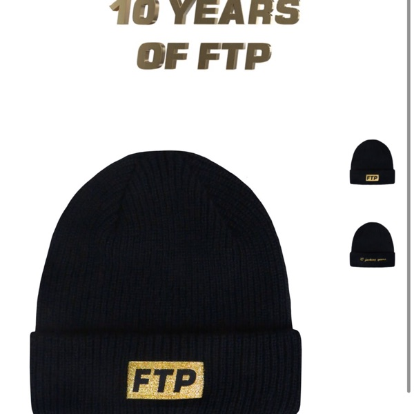 Ftp 10 Year Logo Beanie Black