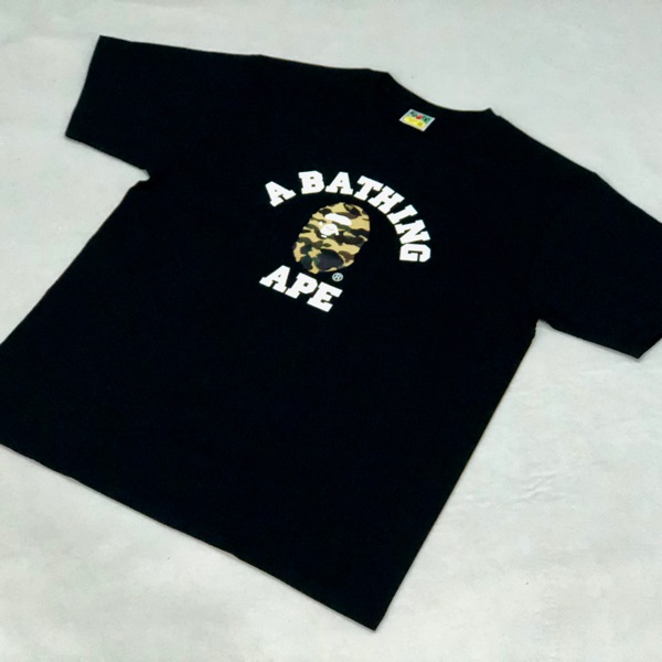 AUTHENTIC APE BAPE 1ST CAMO COLLEGE PULLOVER HOODIE YELLOW 3XL ONLINE EXCLUSIVE