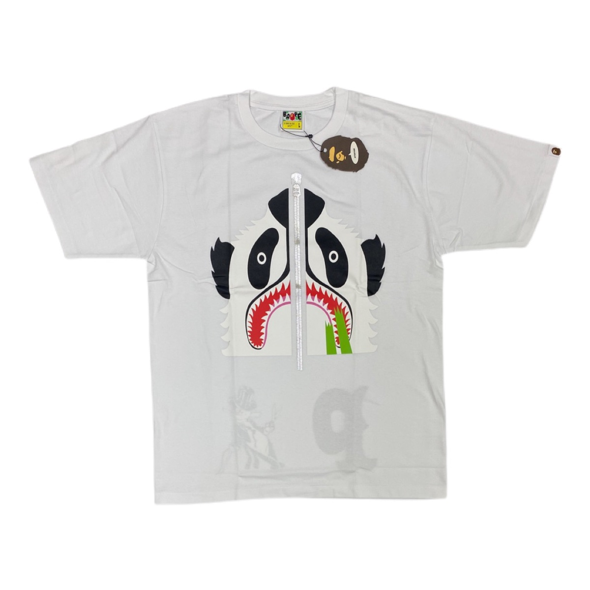 Authentic Bape panda white tee brand new with tags