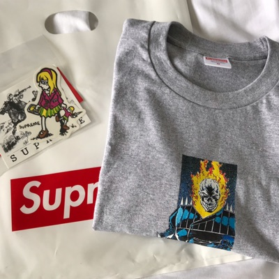 Supreme Ghost Rider Tee Grey