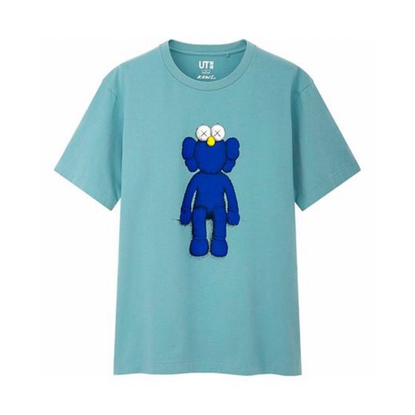 Uniqlo Kaws Bff Tee Blue Small Summer 2019