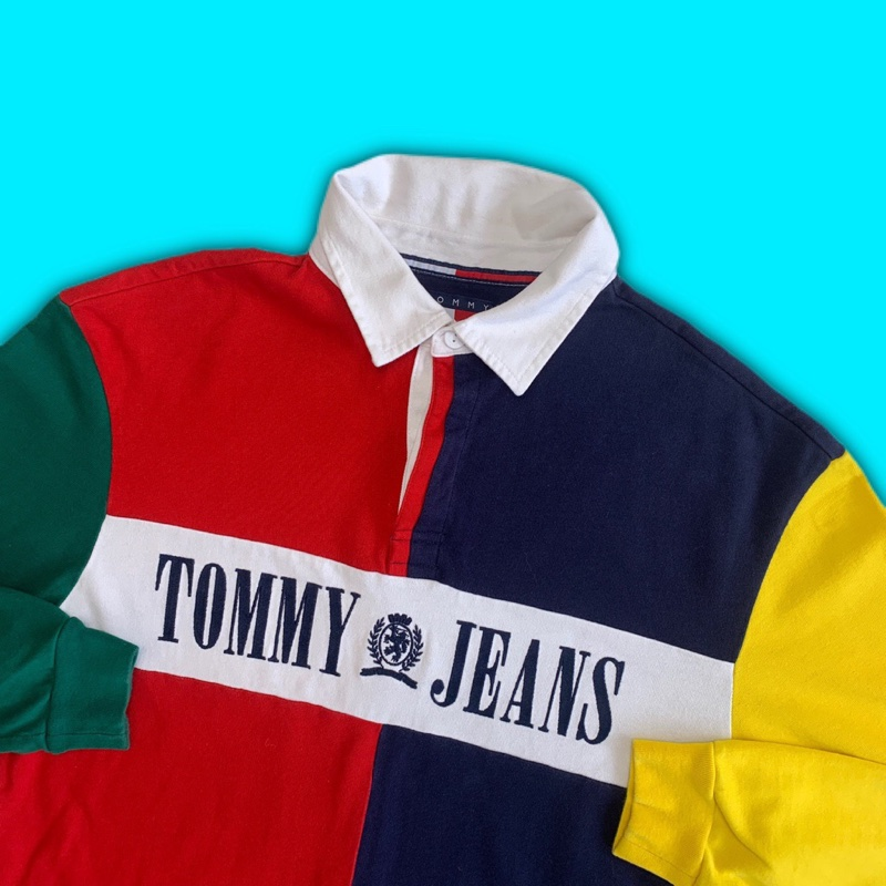 Tommy Jeans Colourblock Rugby Long Sleeve Shirt