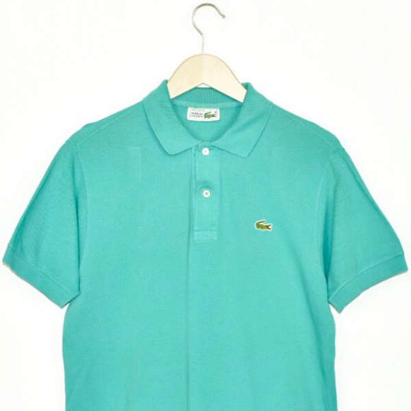 Vintage Lacoste polo shirt t-shirt pullover in turquoise/cyan