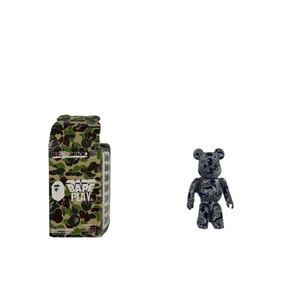 Bape Grey Star Camo Bearbrick