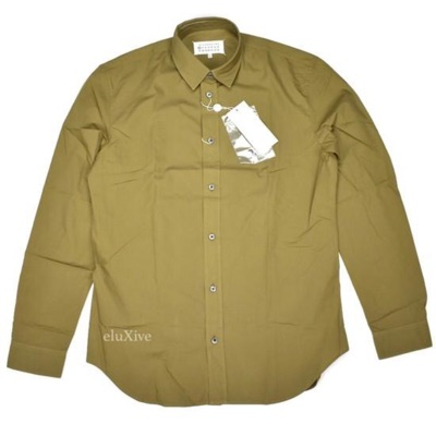 Maison Margiela Olive Button Down Shirt Nwt