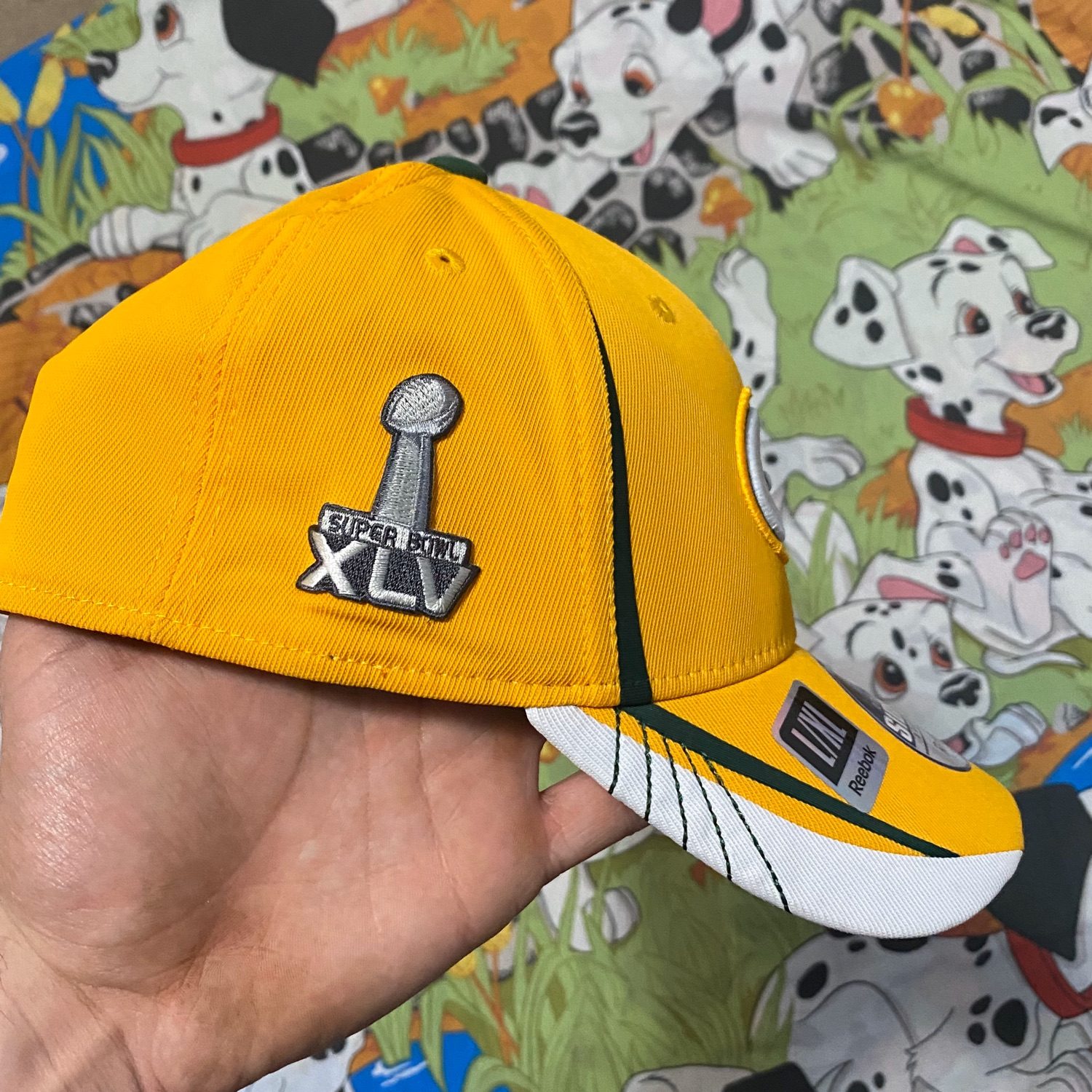 Reebok Fitted Green Bay Packers Hat Super Bowl Xlv