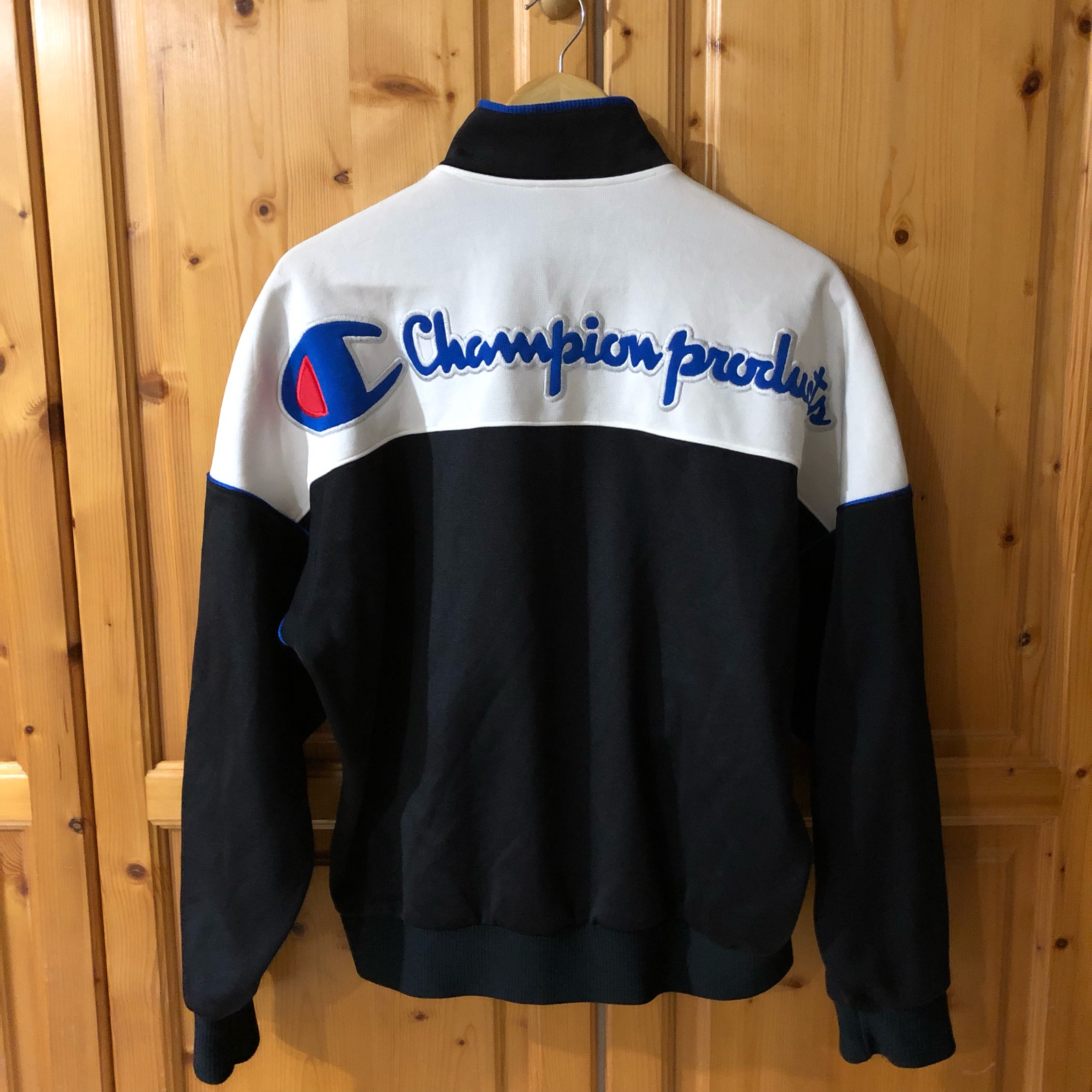 Vintage Champion Tracktop Huge Spellout