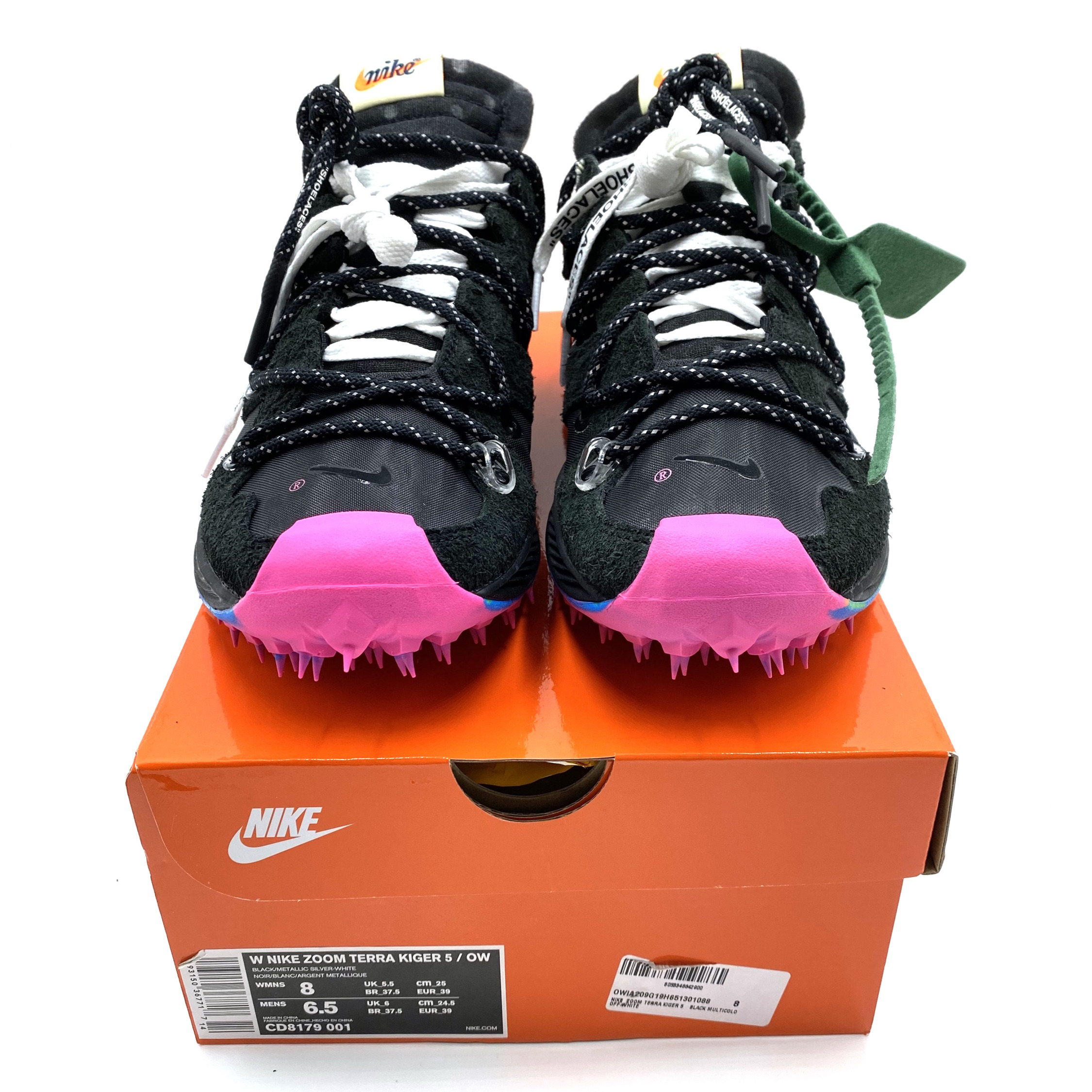 Off-White X Nike Zoom Terra Kiger 5 Black Pink (W)