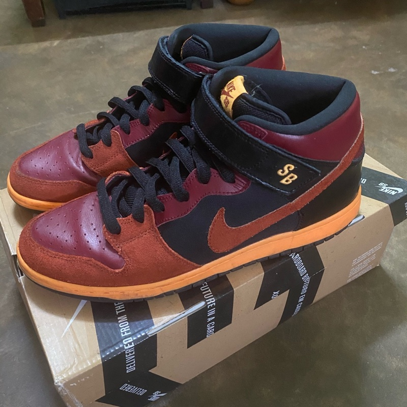 Nike Dunk SB Mid Ostrich Team Red