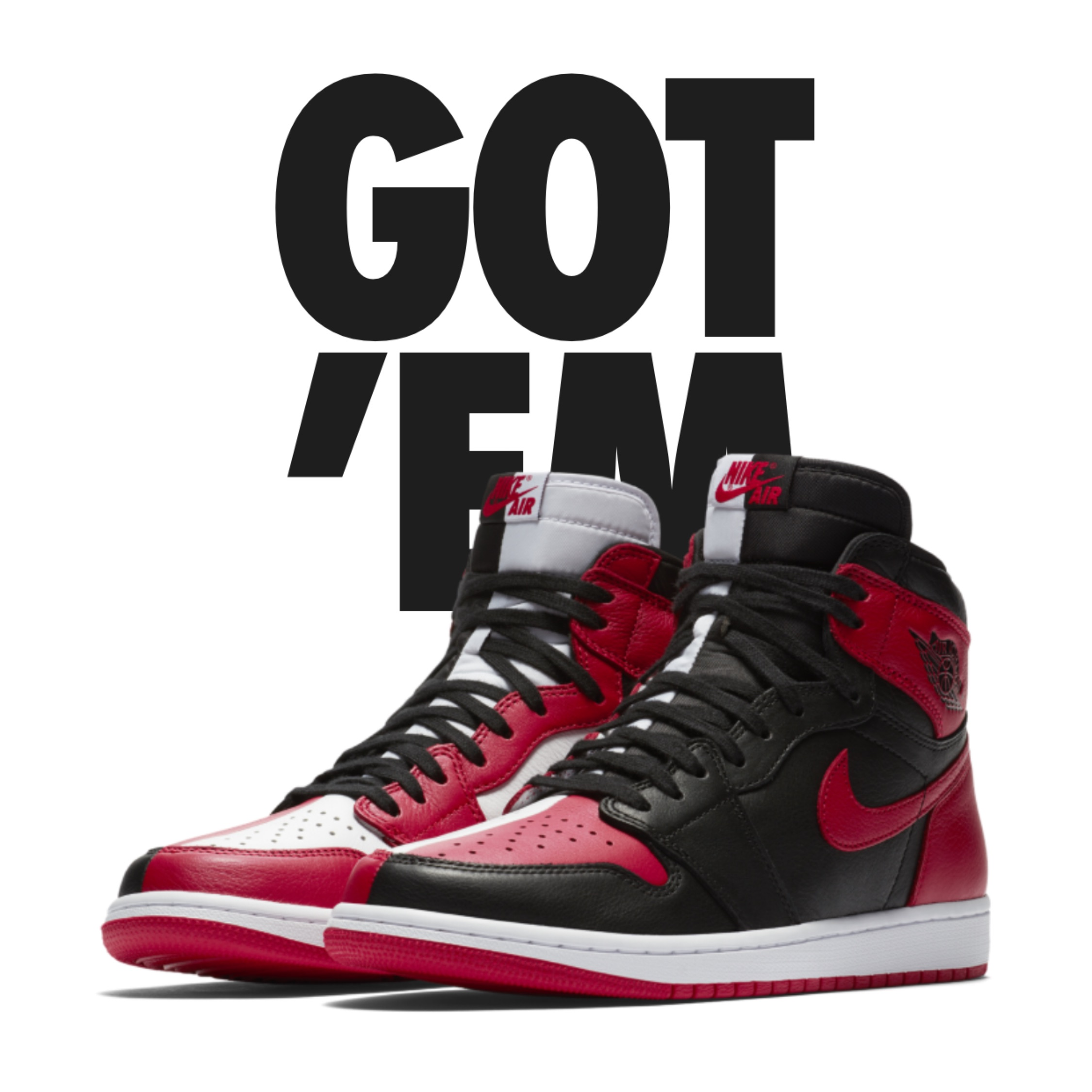 best loved d2cd3 6520f Homage To Home Jordan 1'S (Non-Numbered)