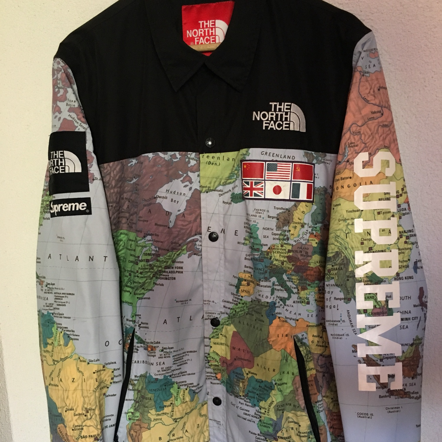 Supreme The North Face Expedition Map