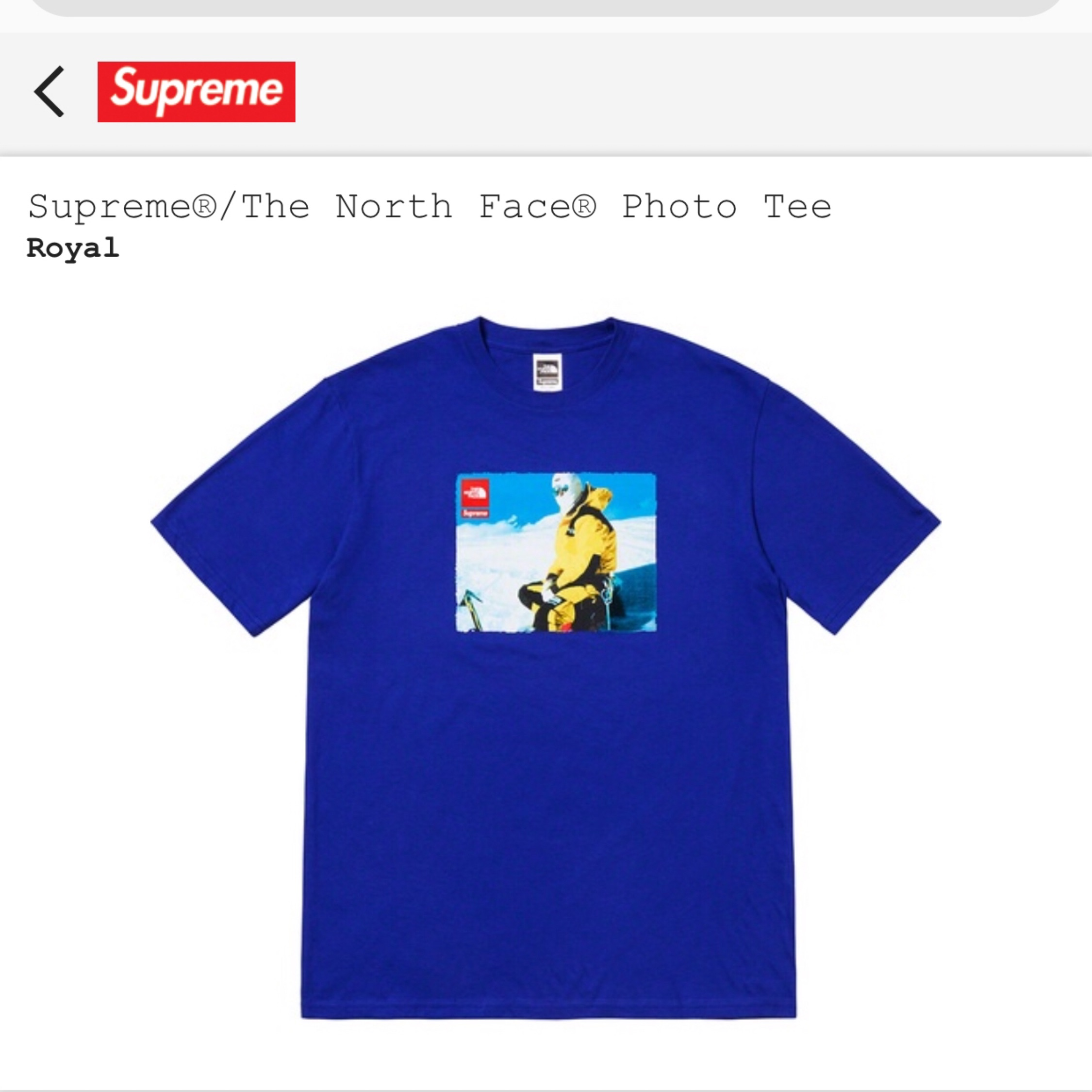 Tee Supreme X The North Face