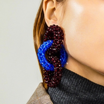 Earrings Clips With Beads From Dries Van Noten