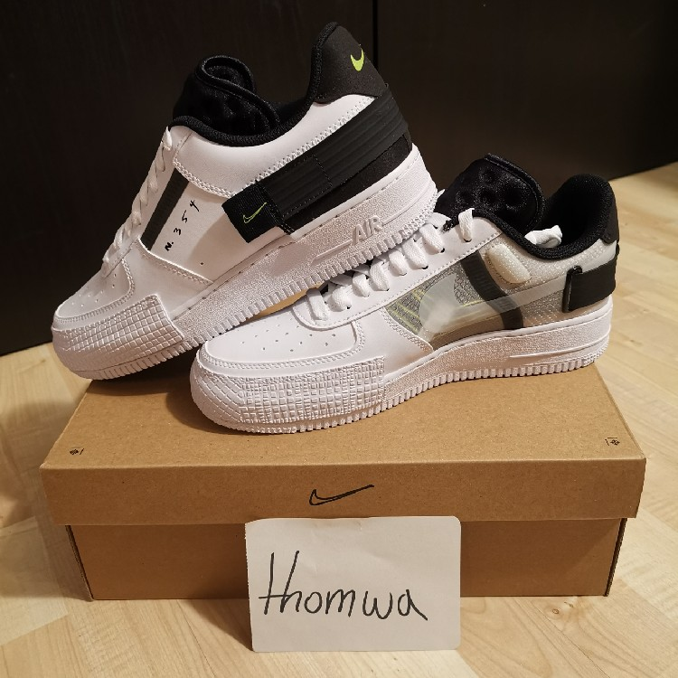 Nike Air Force 1 Low Type White Black US 9,5 EU 43 NEW DS