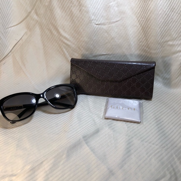 Gucci Sunglasses Black Bamboo Authentic