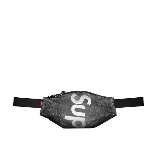 Supreme Waterproof Reflective Speckled Waist Bag Black