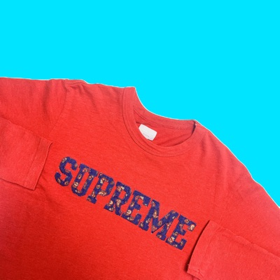 Red Supreme Long Sleeve T Shirt