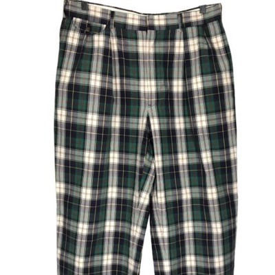 Polo Ralph Lauren Green And White Vintage Pants