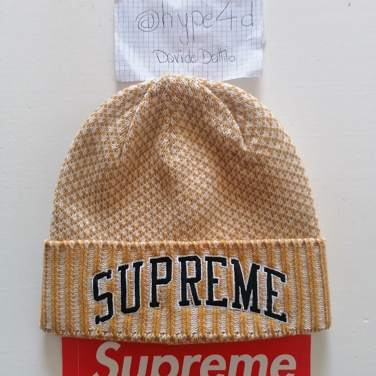 Supreme Fair Isle Beanie Gold