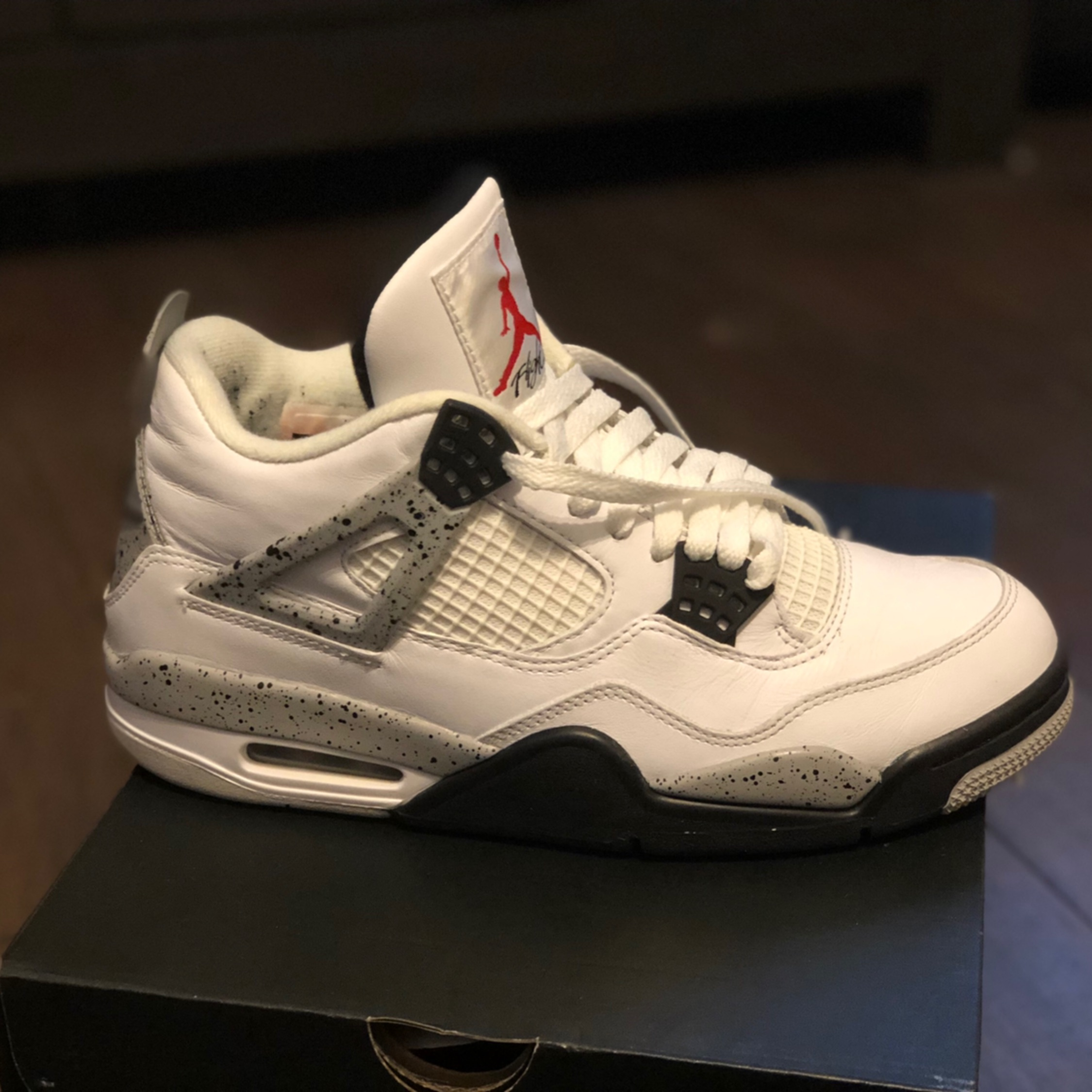 reputable site 82c66 c7ec1 Air Jordan Retro 4 Og White Cement