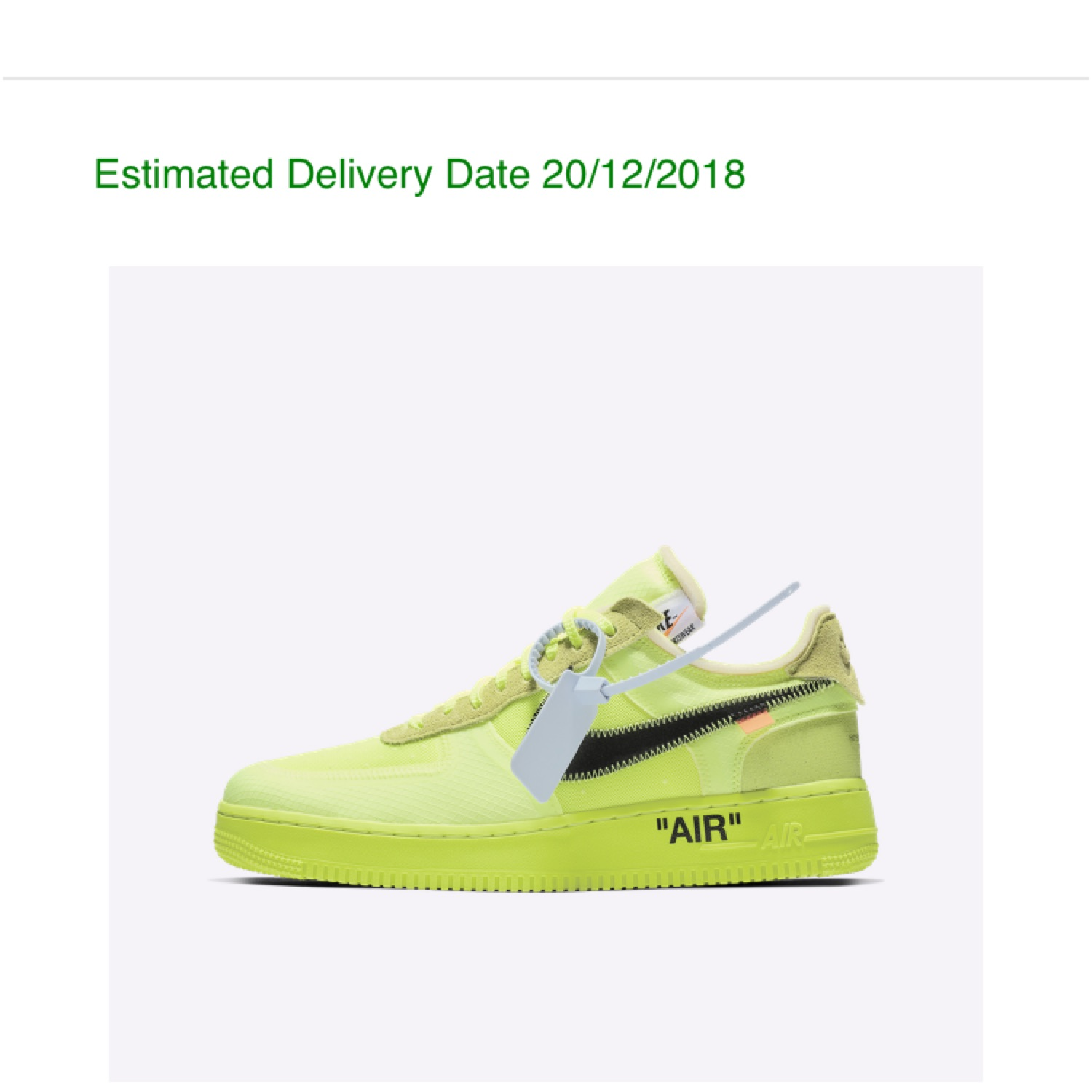 Invalidez A través de Microbio  Nike Off White Air Force One Yellow