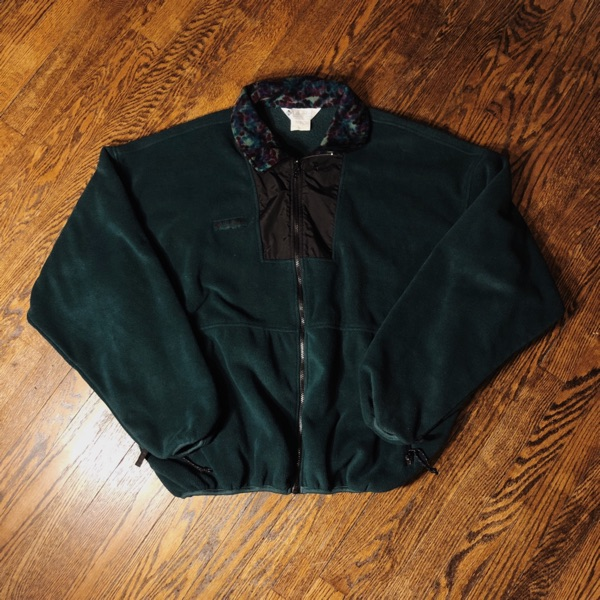 Vintage Green Columbia Outdoors Fleece Jacket