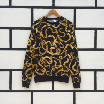 Rare Baroque Sweatshirt Gold Chains Style