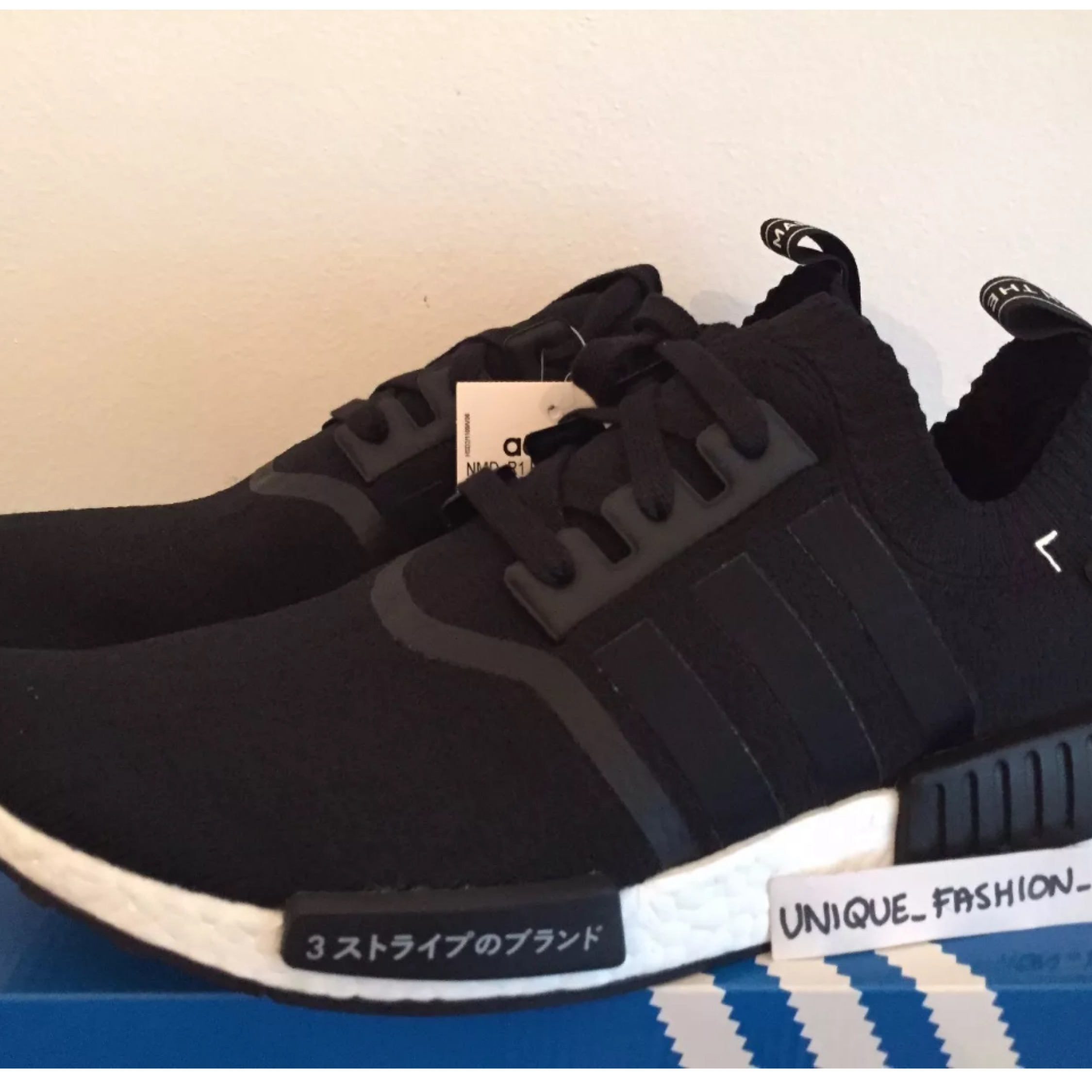 more photos 85821 9c3e3 Adidas Nmd Runner Primeknit Pk Japan Black