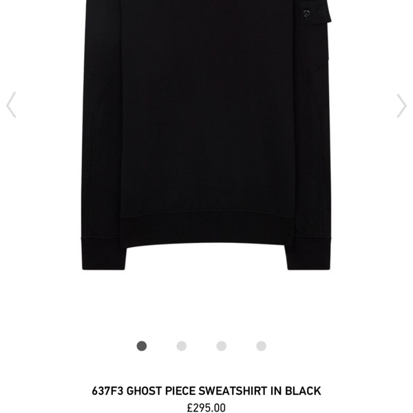 Stone Island Ghost Piece Sweatshirt Black