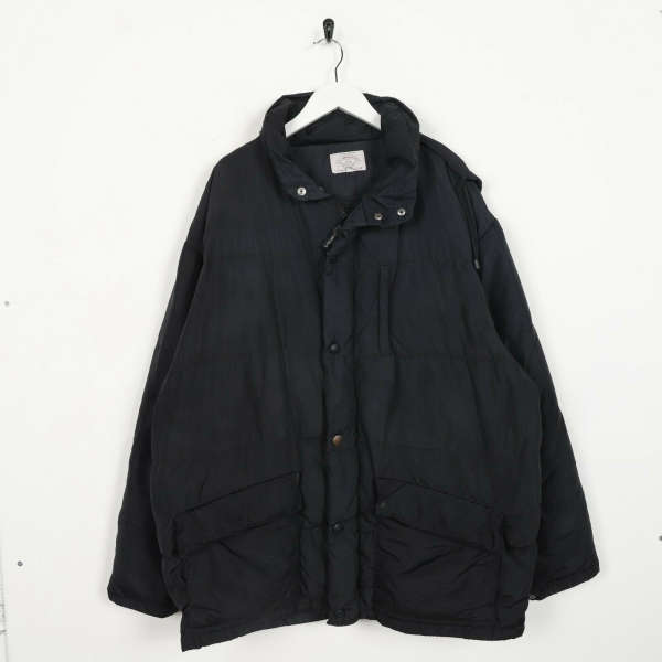 Vintage ARMANI JEANS Down Filled Puffer Jacket Coat Black | Large L