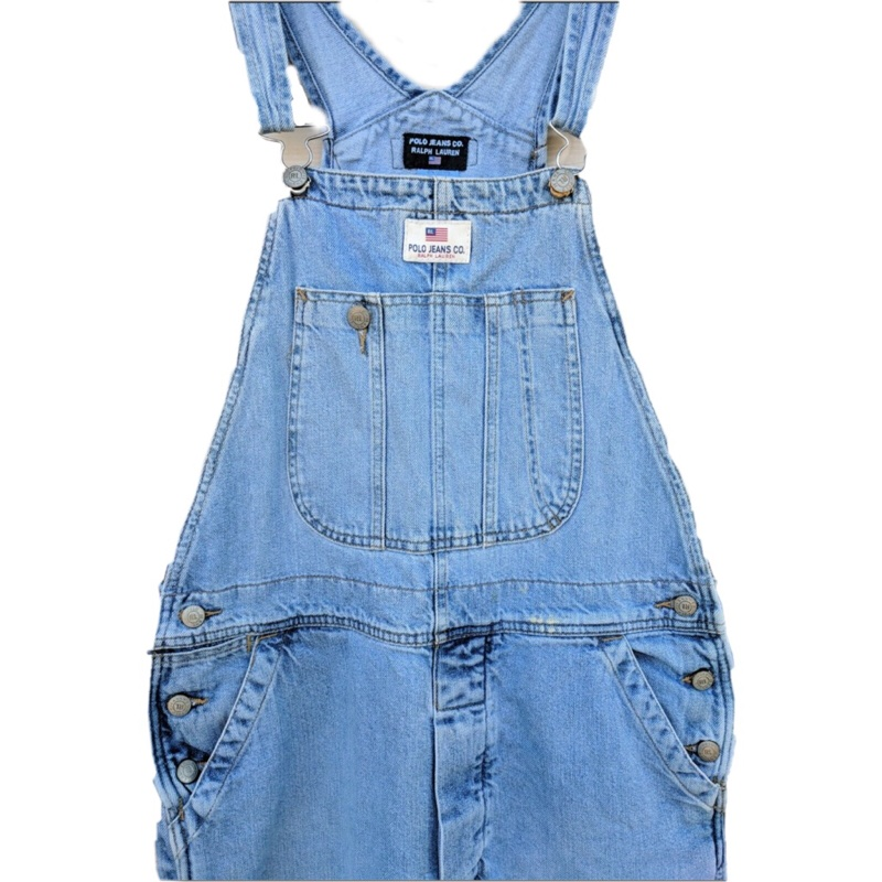 Vintage Ralph Lauren Denim Overalls, Retro Hip Hop Fashion, Size L 1990's Jean Overalls, Clothing Gift for Men or Women