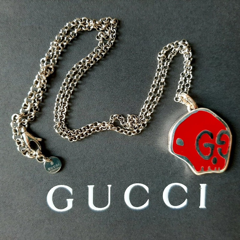 Gucci Ghost Skull Necklace