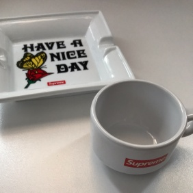 Supreme Have A Nice Day Ceramic Ashtray + Espresso Cup