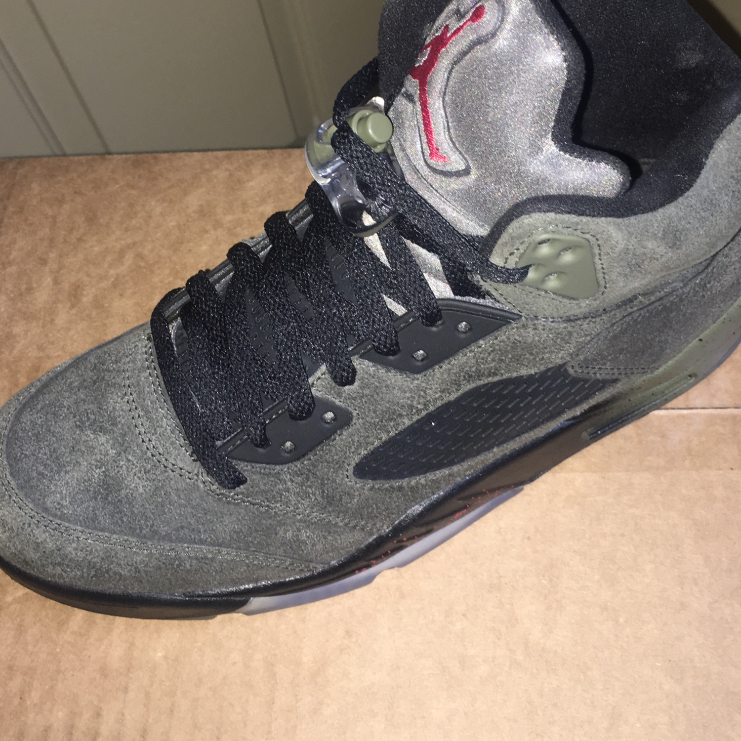 buy popular 9d960 087c1 Air Jordan 5 'Fear' Army Olive Green Size 9 No Box