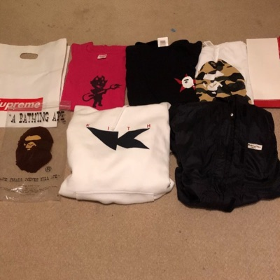 Apparel Lot Supreme Bape Kith Look In Description