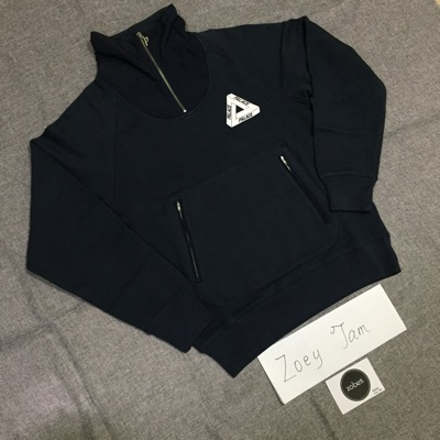 Palace P Crepe Zip Funnel Navy