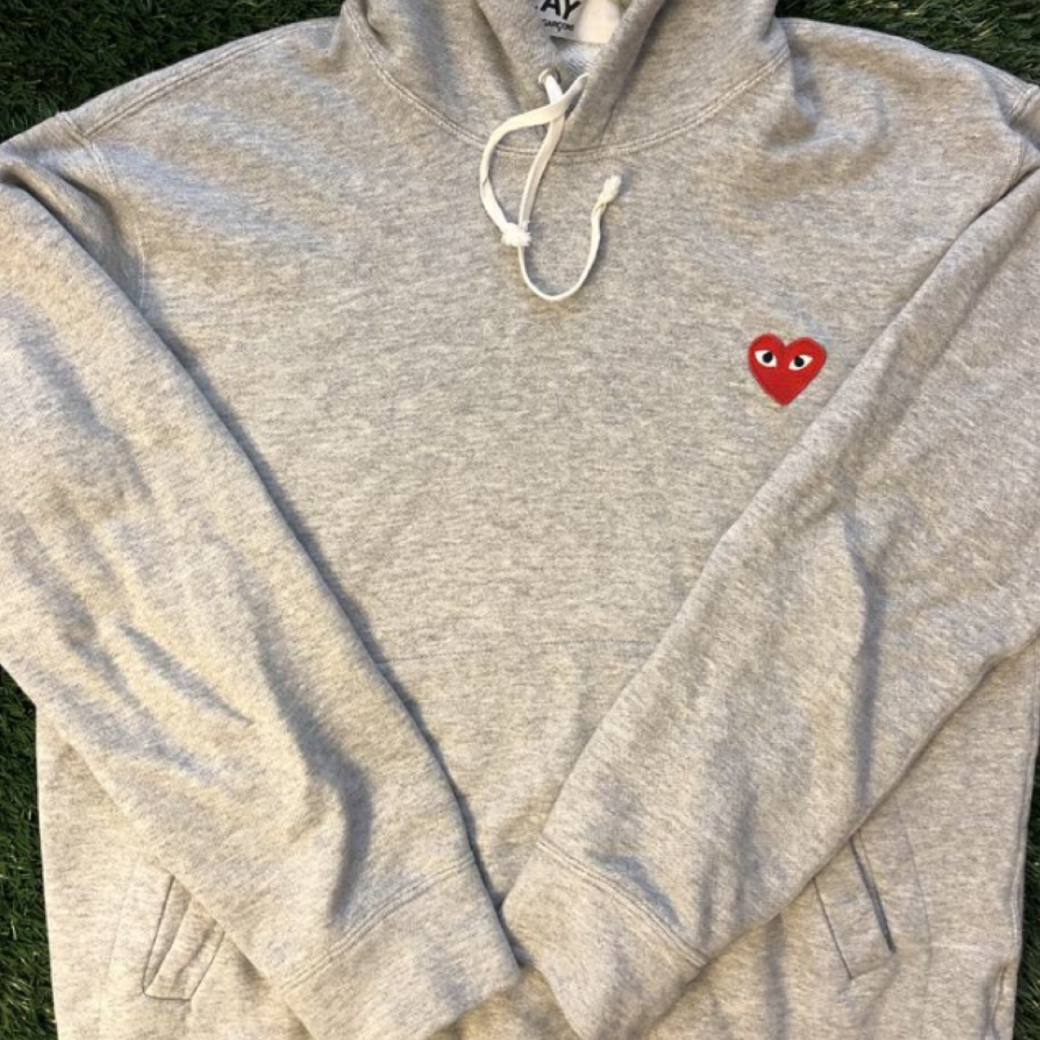 Comme Des Garcons Play Pullover Hooded Sweatshirt
