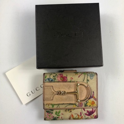 Gucci Floral Leather Bifold Wallet