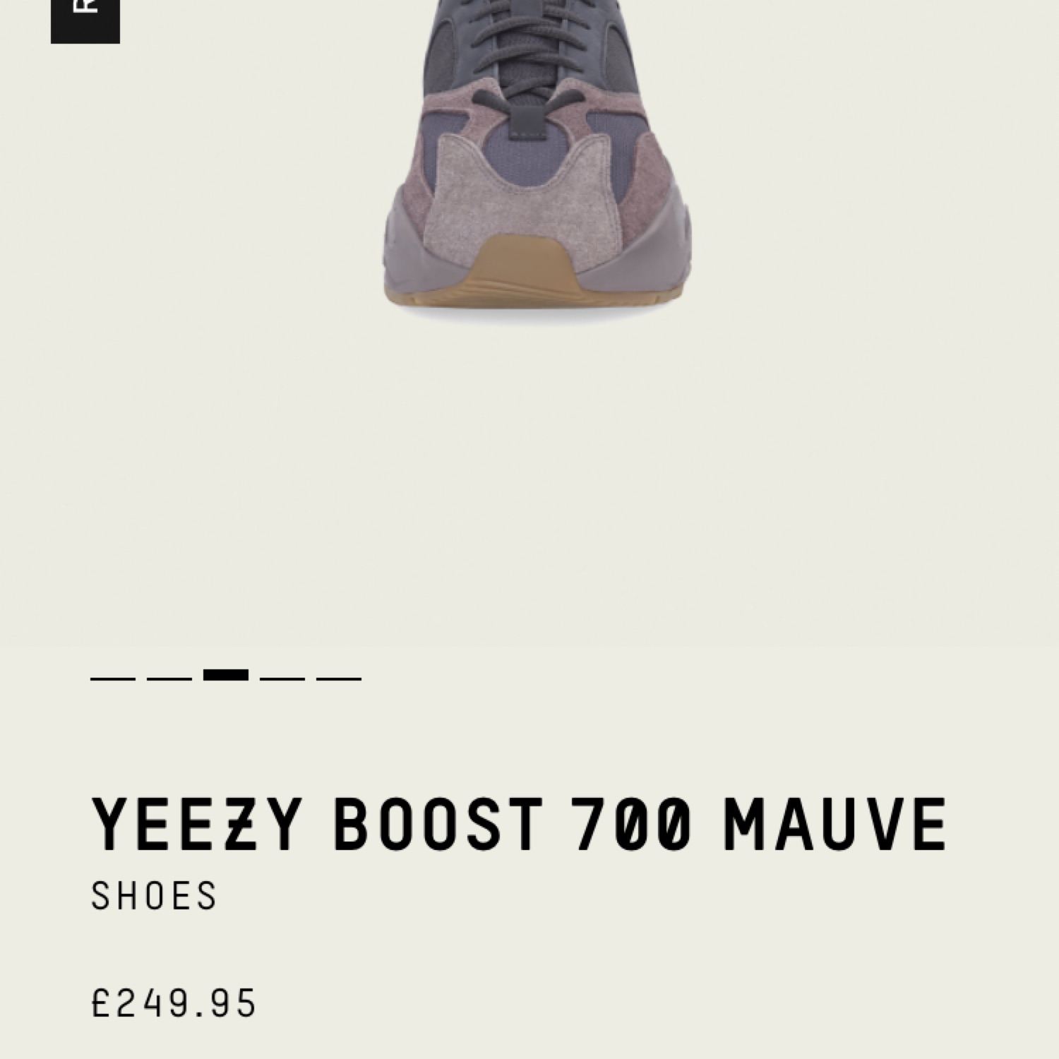 5fe2d77d5eb5a Yeezy Boost 700 Mauve Uk Size 8 Reserved Message M