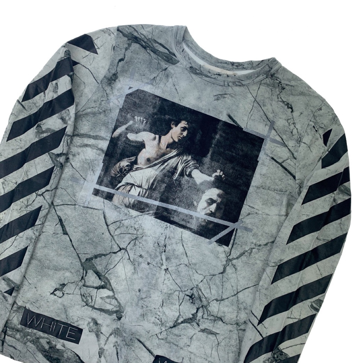 Off-White Caravaggio Marble Long Sleeve T Shirt