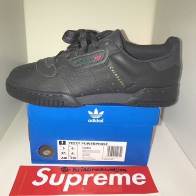 Adidas Yeezy Powerphase Black  Eu37 1/3 Uk4.5 Us 5