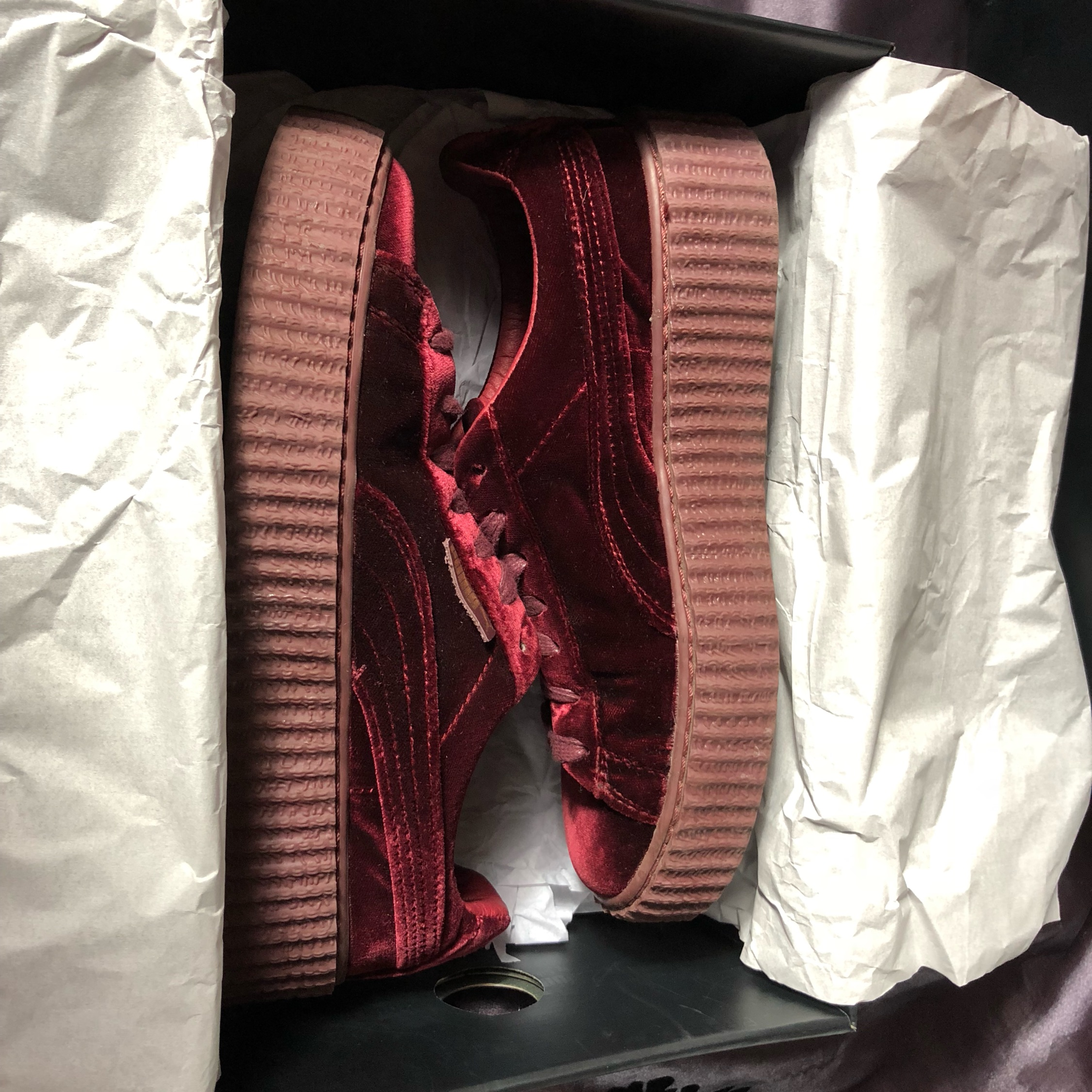 sneakers for cheap 08b5c 3bbad Puma X Fenty Velvet Creepers Royal Purple