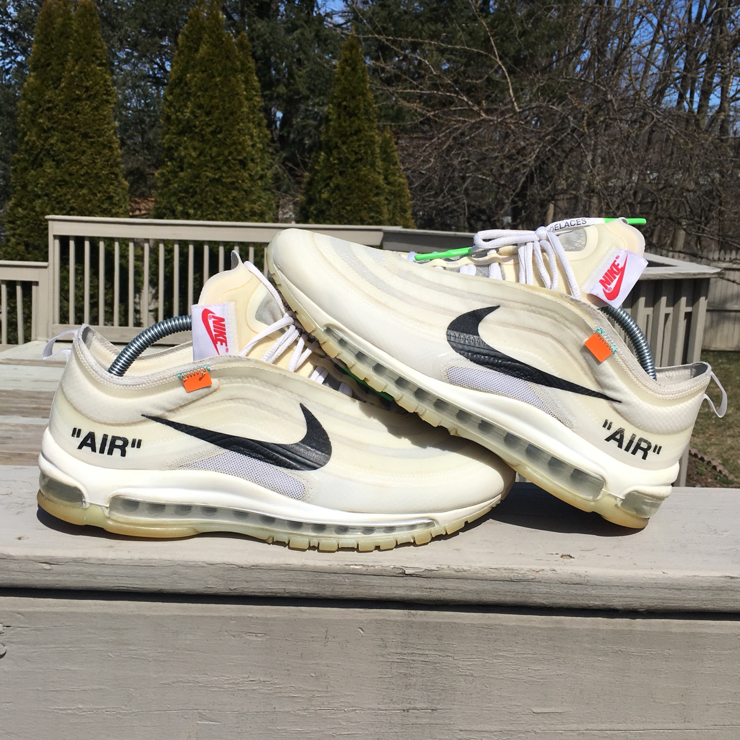 air max 97 off white black laces