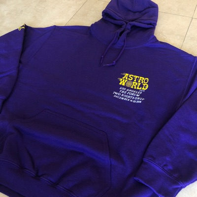 Travis Scott Astroworld La Tour Purple Hoodie