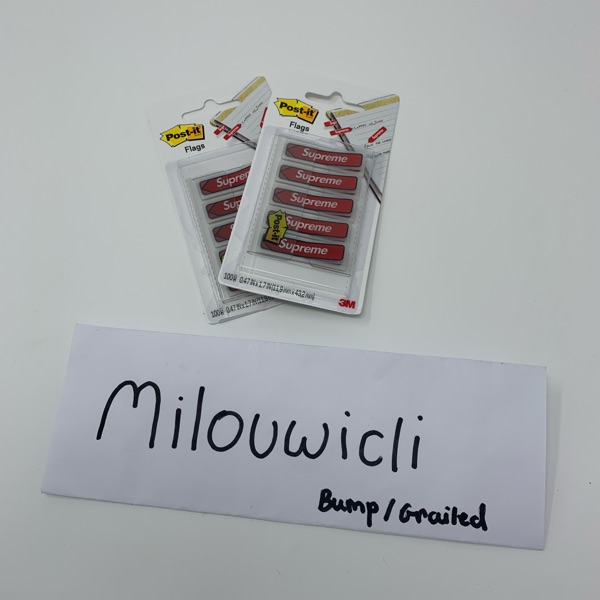 Supreme Post It Notes Box Logo